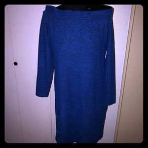 JUST FAB off the shoulder sweater dress